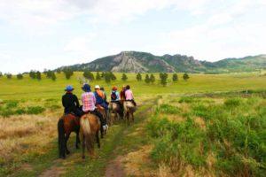 Hästridning i Mongoliet
